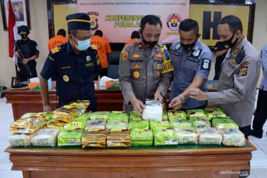 Peredaran narkoba jaringan internasional lewat jalur laut