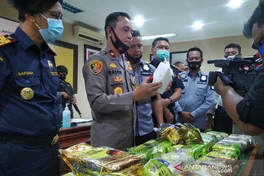 Sepanjang 2020, Bea Cukai Aceh berhasil sita 219,87 kg sabu-sabu