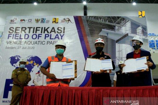 Arena akuatik PON Papua penuhi standar FINA