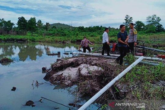 Tim gabungan Bintan hentikan aktivitas tambang pasir ilegal