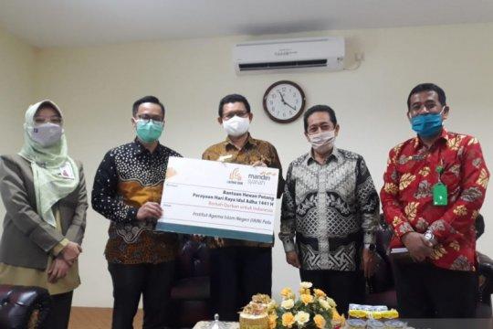 Bank Mandiri Syariah salurkan bantuan hewan kurban ke IAIN Palu