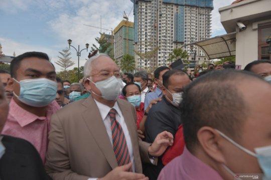 Najib Razak bayar uang jaminan RM2 juta (Rp6,8 miliar)