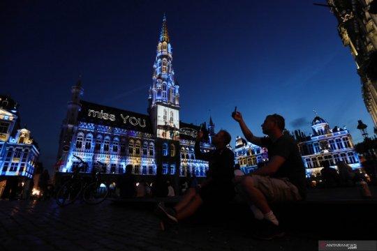 Pertunjukan suara dan cahaya di Belgia