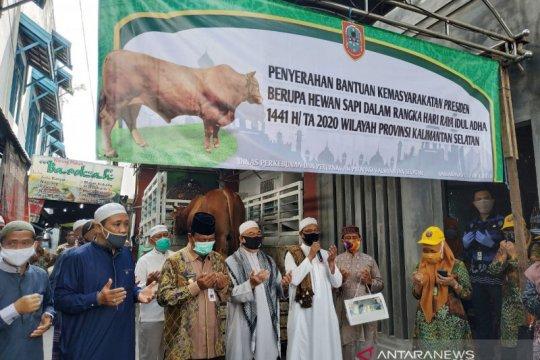 Presiden serahkan sapi limosin untuk Masjid Noor Banjarmasin