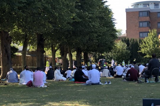 Warga muslim RI di Inggris Shalat Idul Adha di Colchester Castle Park