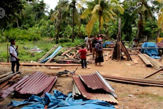 Angin puting beliung rusak puluhan rumah di Aceh Utara