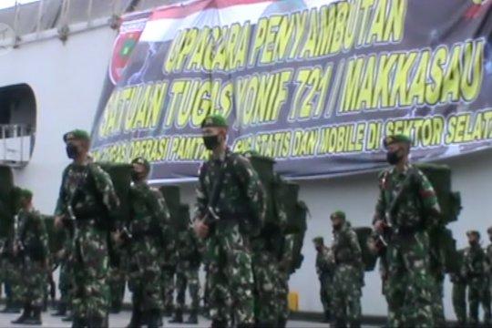 Pangdam XIV/Hasanuddin sambut pasukan purnatugas di Papua