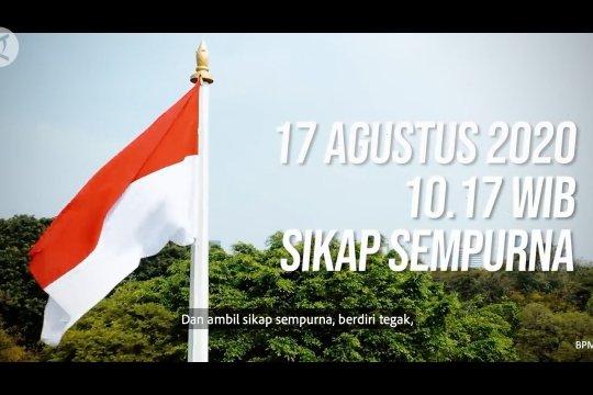 17 Agustus 2020 pukul 10.17, masyarakat diminta berdiri tegak 3 menit