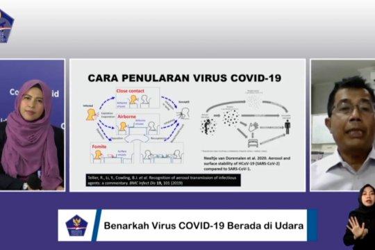 Pakar jelaskan potensi penularan COVID-19 lewat udara