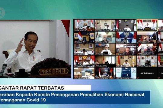 Presiden ingatkan ada 8 provinsi yang sumbangkan 74% kasus COVID-19