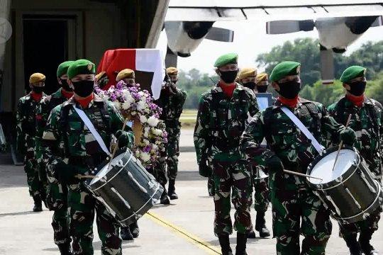 Jenazah prajurit TNI yang gugur di Kongo tiba di Pekanbaru
