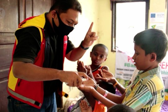 Imigran Rohingya diajarkan penerapan protokol kesehatan