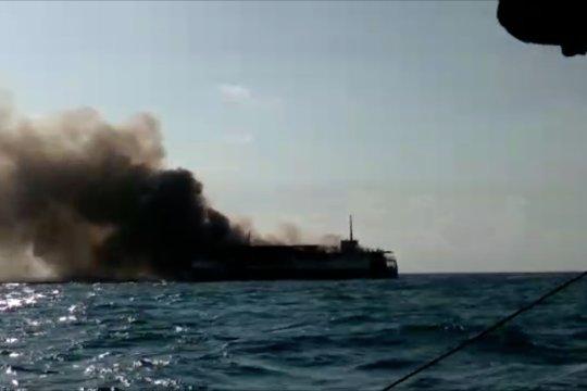 Kapal Bahari Indonesia terbakar di perairan Babel