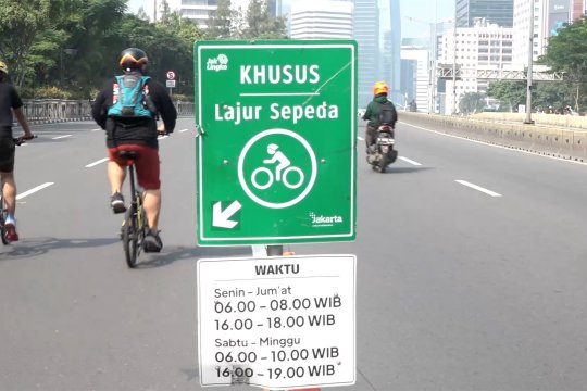 Jalur sepeda kawasan Sudirman diperpanjang hingga Medan Merdeka