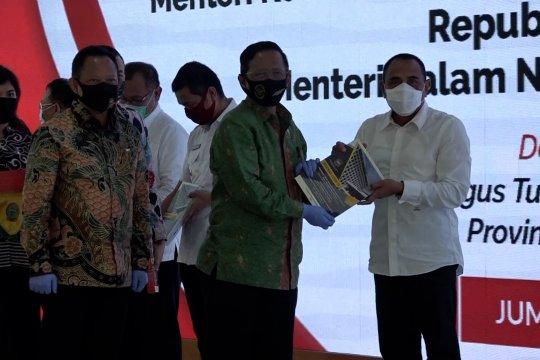 Mahfud MD sosialisasikan 3 kebijakan penanganan COVID-19 di Sumut