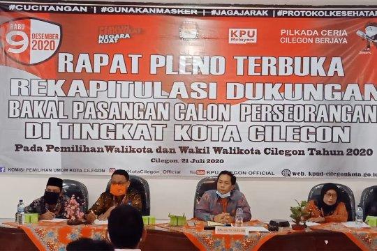 KPU Kota Cilegon gelar rapat pleno rekapitulasi dukungan calon perseorangan