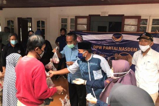DPW Partai NasDem NTB salurkan 200 paket daging kurban
