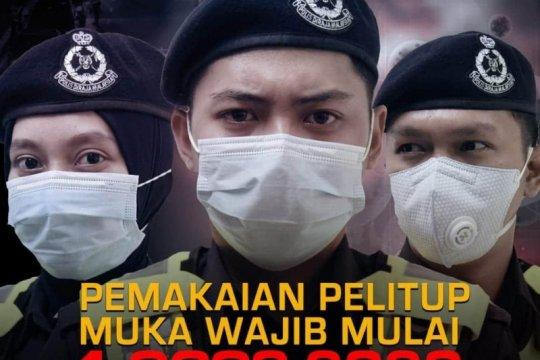 Malaysia terapkan wajib masker berdenda RM1000
