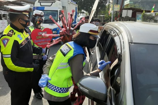 Satlantas Polresta Bandarlampung berikan teguran kepada 517 pengendara