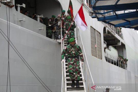 Satgas Pamtas Yonif 713 kembali ke Gorontalo dari perbatasan Nugini