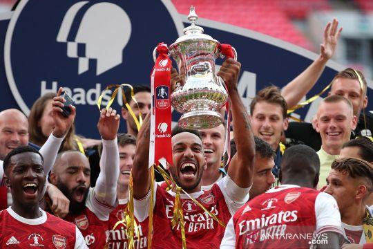 Arsenal vs Chelsea, The Gunners juara Piala FA usai menang 2-1