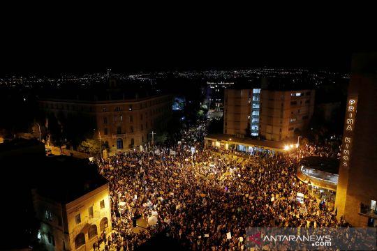 Ribuan warga Israel kembali demo desak PM Netanyahu mundur