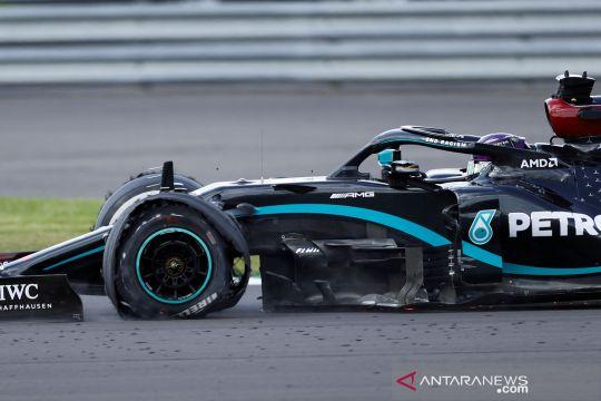Hamilton sebut ban seperti balon, takut pecah lagi di Silverstone