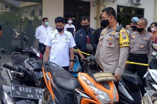 Polrestabes Semarang tangkap 38 pencuri kendaraan bermotor