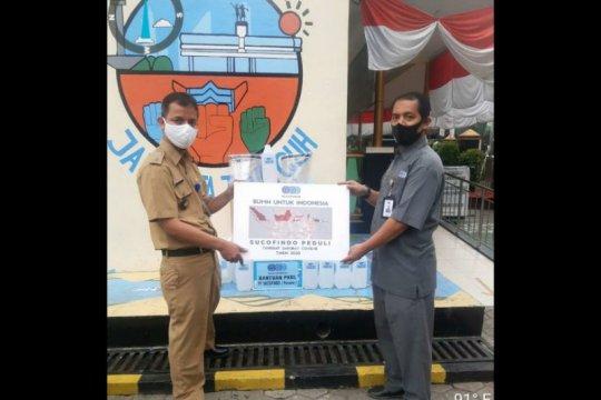 Kelurahan Pancoran terima bantuan pencegahan COVID-19 dari Sucofindo