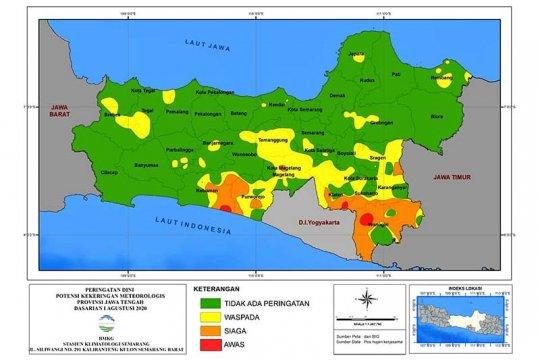 Sejumlah wilayah Jateng selatan waspada kekeringan, sebut BMKG