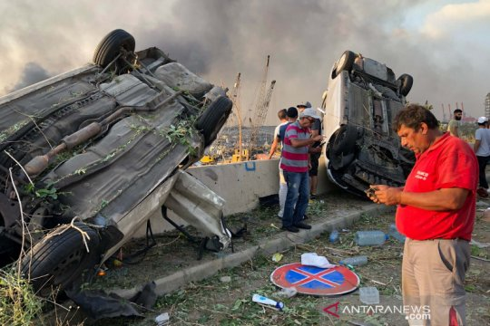2.750 ton amonium nitrat terkait dengan ledakan masif di Lebanon