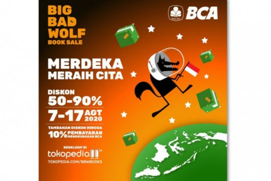 Big Bad Wolf kembali hadir di Tokopedia mulai 7 Agustus