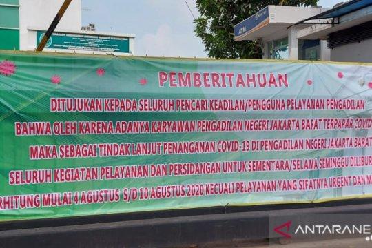 PN Jakarta Barat tutup sepekan setelah satu pegawai terpapar COVID-19