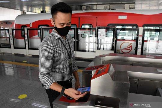 Layanan tiket nirsentuh di LRT