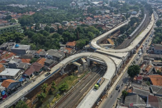 Pembangunan jalan layang tapal kuda di Jakarta