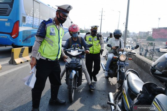 Pelanggar terjaring Operasi Patuh Jaya di Jakarta Barat menurun