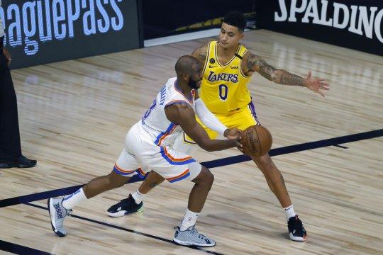 Ringkasan laga NBA, Thunder robohkan Lakers