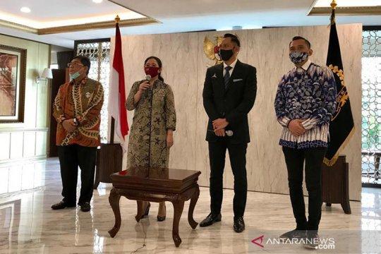 Usai bertemu Puan, AHY sampaikan salam hormat bagi Megawati