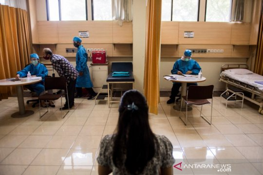 Presiden saksikan penyuntikan vaksin COVID-19 kepada 1.620 relawan