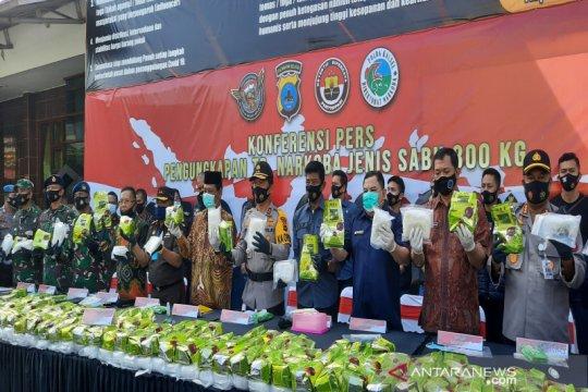 Polda Kalsel cetak rekor terbesar sita 300 kg sabu-sabu
