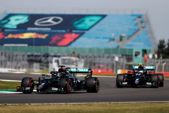 Duet Mercedes puncaki sesi latihan terakhir GP hari jadi F1 ke-70
