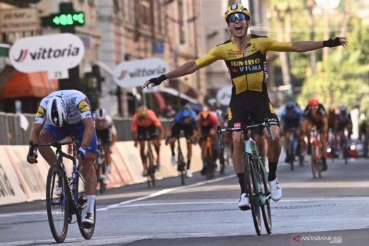 Wout van Aert menangi balap sepeda Milan-San Remo