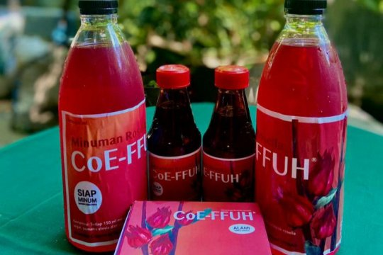 Tim Farmasi Unhas hasilkan produk minuman dari kelopak bunga rosella
