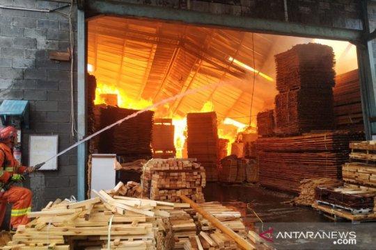 Petugas damkar sulit padamkan kebakaran pabrik mebel Cakung