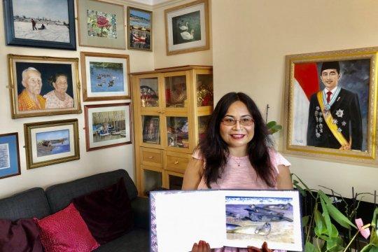 Warga Indonesia melukis Anjing Laut  untuk Ratu Inggris