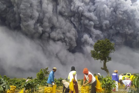 Gunung Sinabung erupsi lagi, Puskesmas Kabanjahe disiagakan 24 jam