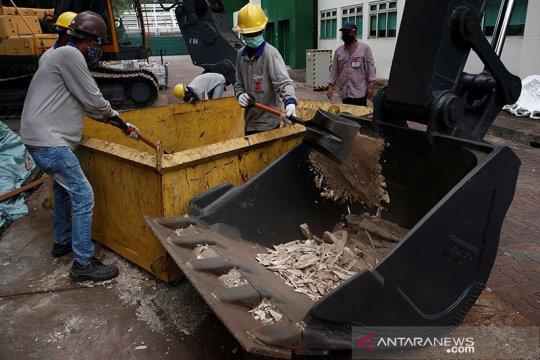Cegah perdagangan ilegal, Singapura hancurkan 9 ton gading gajah