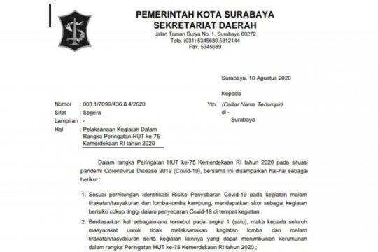 Anggota DPRD Surabaya beda sikap atas larangan tasyakuran HUT ke-75 RI