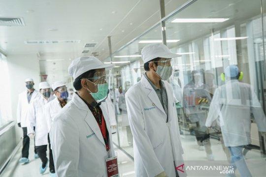 Presiden Jokowi kunjungi fasilitas produksi vaksin COVID-19