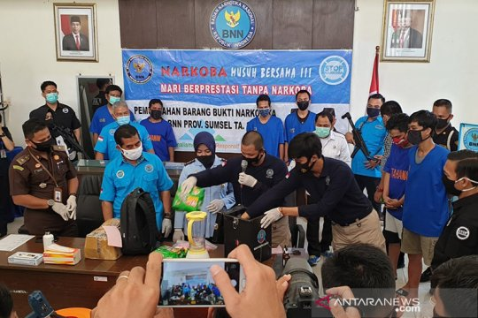 BNN Sumsel musnahkan barang bukti sabu 7,5 kilogram